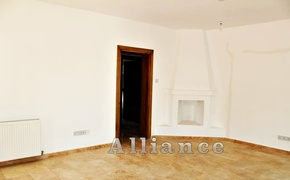 Villa Ozankoy- living room, fireplace, access to the bedrooms on the ground floor