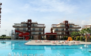 Apartments with one and two bedroom apartments in the complex, 400 meters from the beach