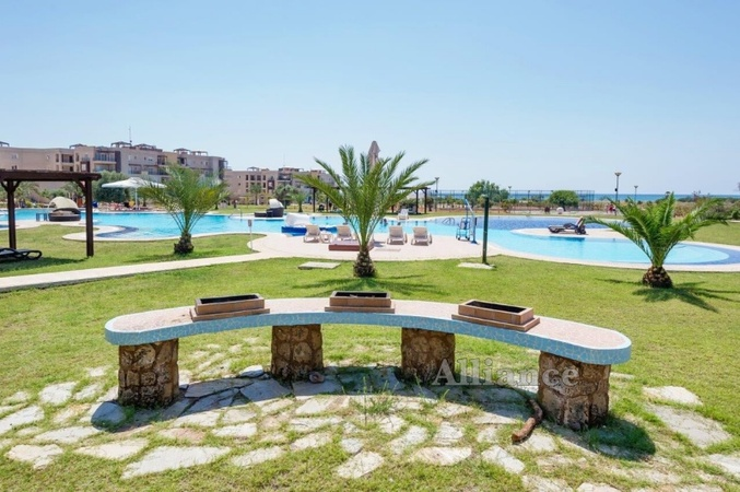 The view of the holiday resort  in Bafra - infrastructure
