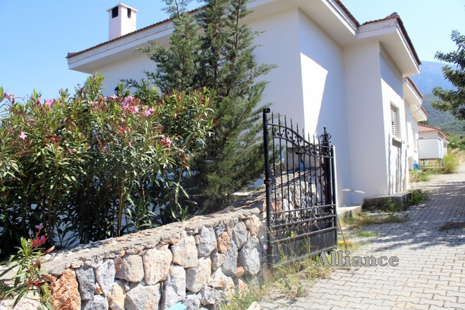 Bungalow with swimming pool in the foothills of Alsancak