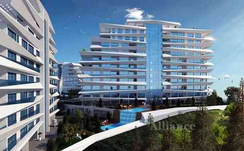 Two-bedroom apartments in Kyrenia, in a modern new complex
