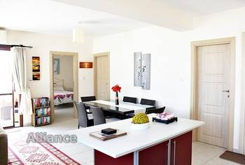 Luxury penthouse on the beach in Esentepe, for sale with furniture