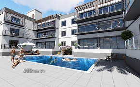 Apartment  development  in Alsacak, time to buy at the  builder's price