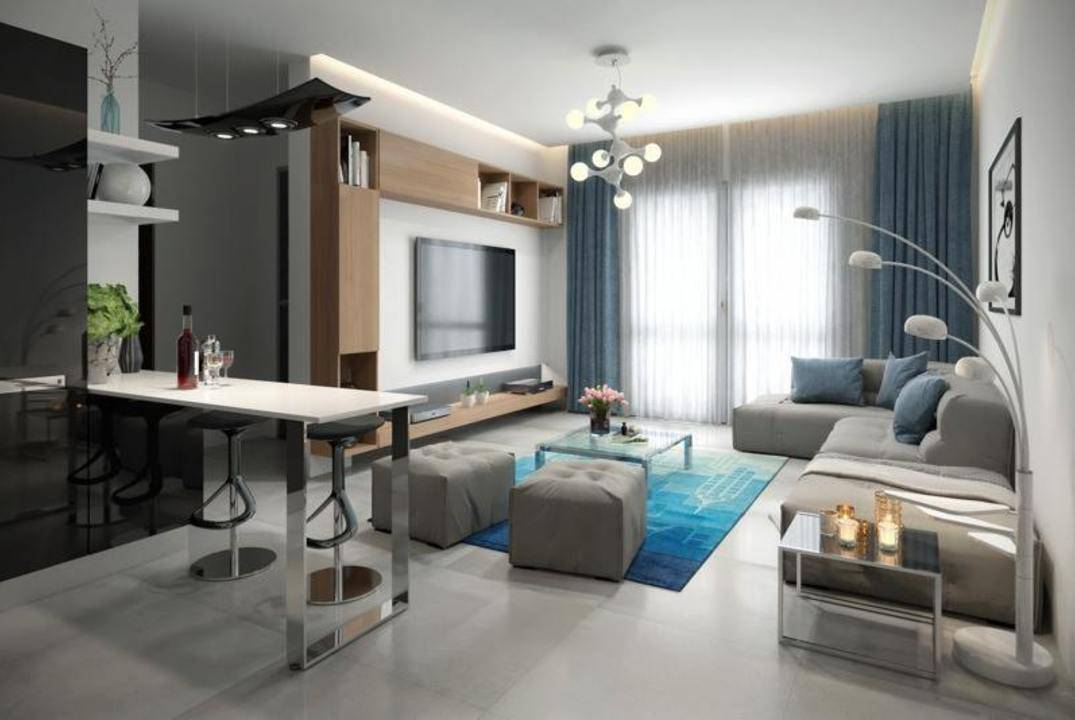 Apartments of the modern lay-out in Famagusta, shopping mall near, an incredible price!
