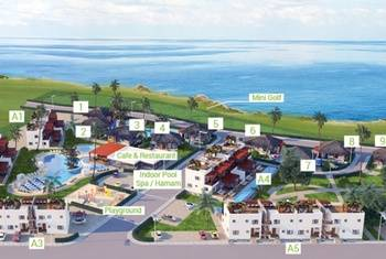 Apartment development  in Bahceli next to the sandy beach