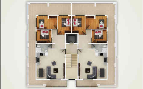 New apartments in the center of Famagusta, Turkish titles!