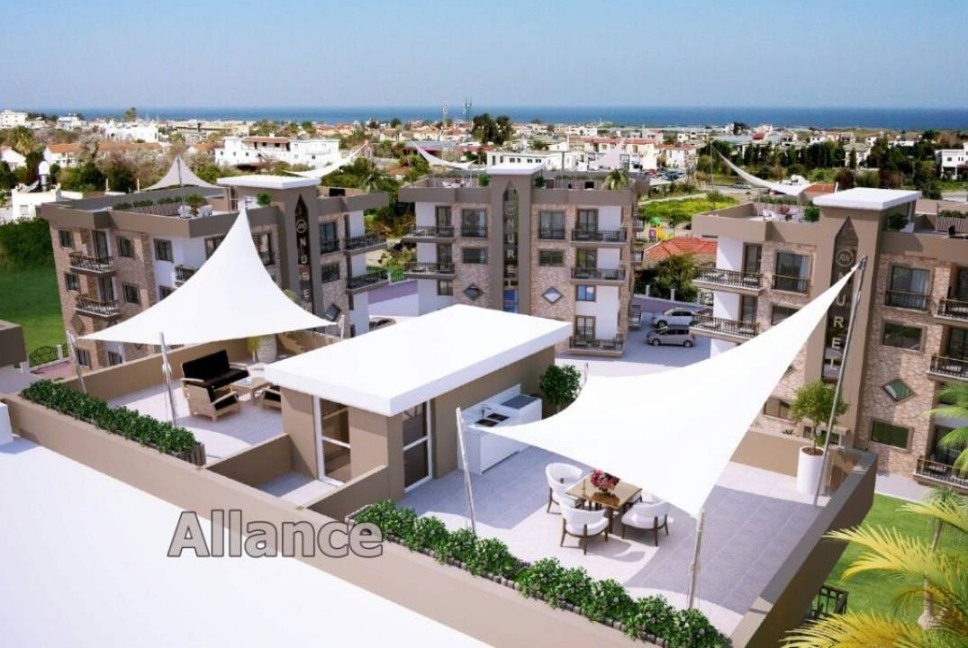 Three bedroom apartments in f Alsanjak, beach, infrastructure nearby