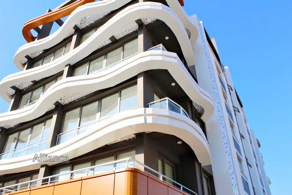 Modern apartment building located in the heart of Kyrenia.