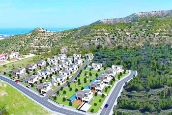 Villas in the unique settlement of Karmi, superb views, Kyrenia town is near