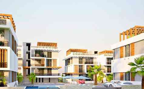 One and two bedroom apartment in Lapta, in the new, cozy development