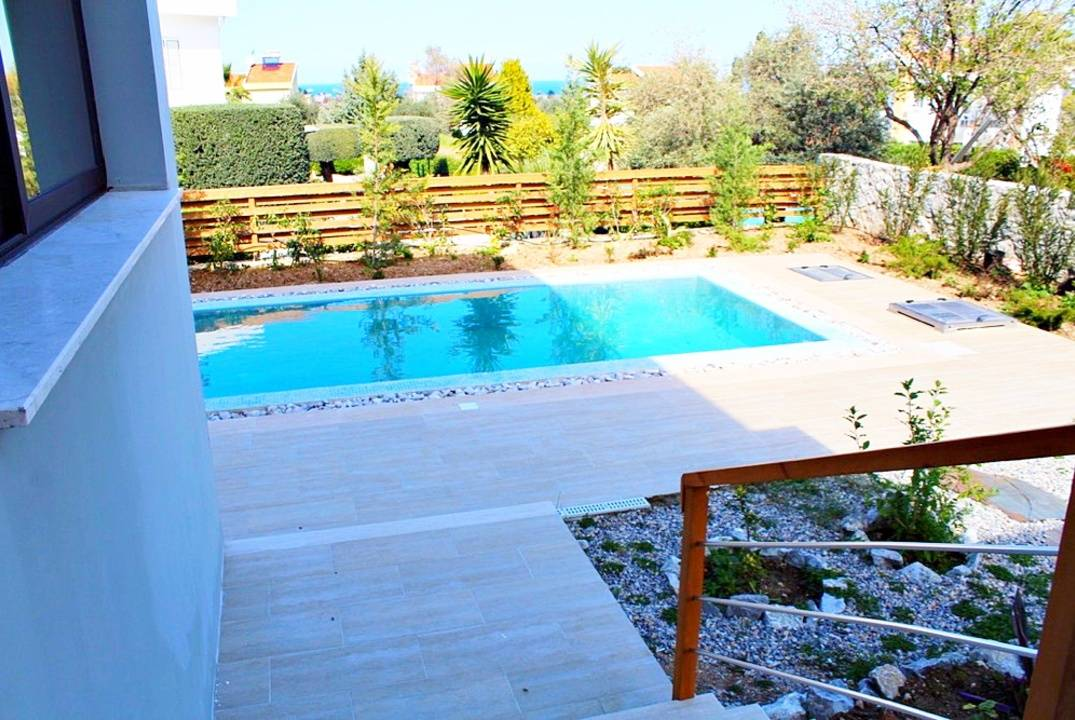 New villa in Catalkoy, stunning views, for sale with furniture