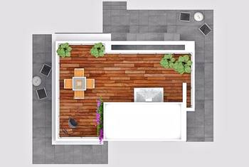 Villa in Chatalkoy, for sale, roof terrace plan