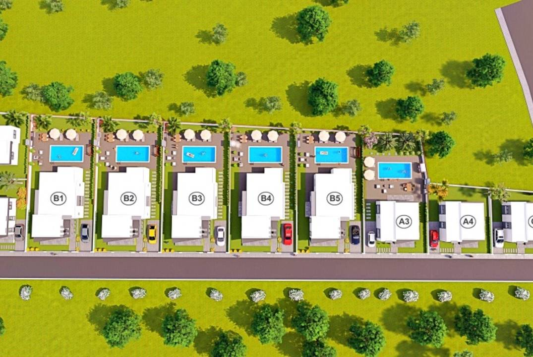 Detached villas with 2 or 3 bedrooms in Mutluyaka