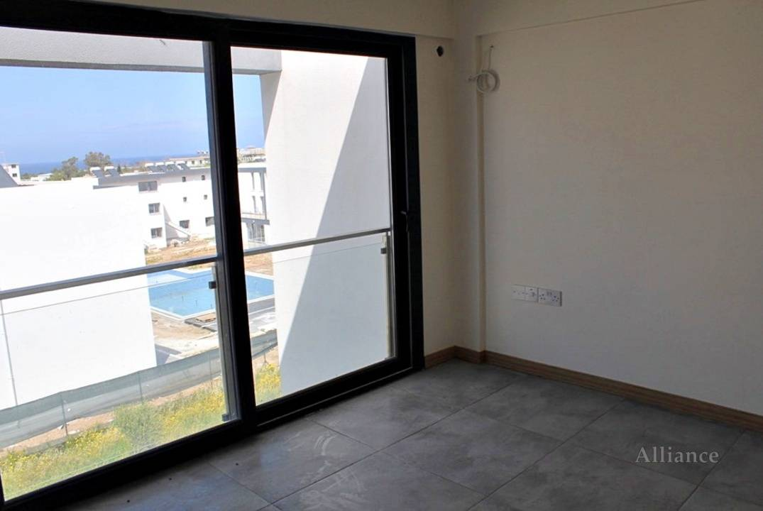 Finished apartments of different layouts and areas are offered for sale in a new complex in Alsancak