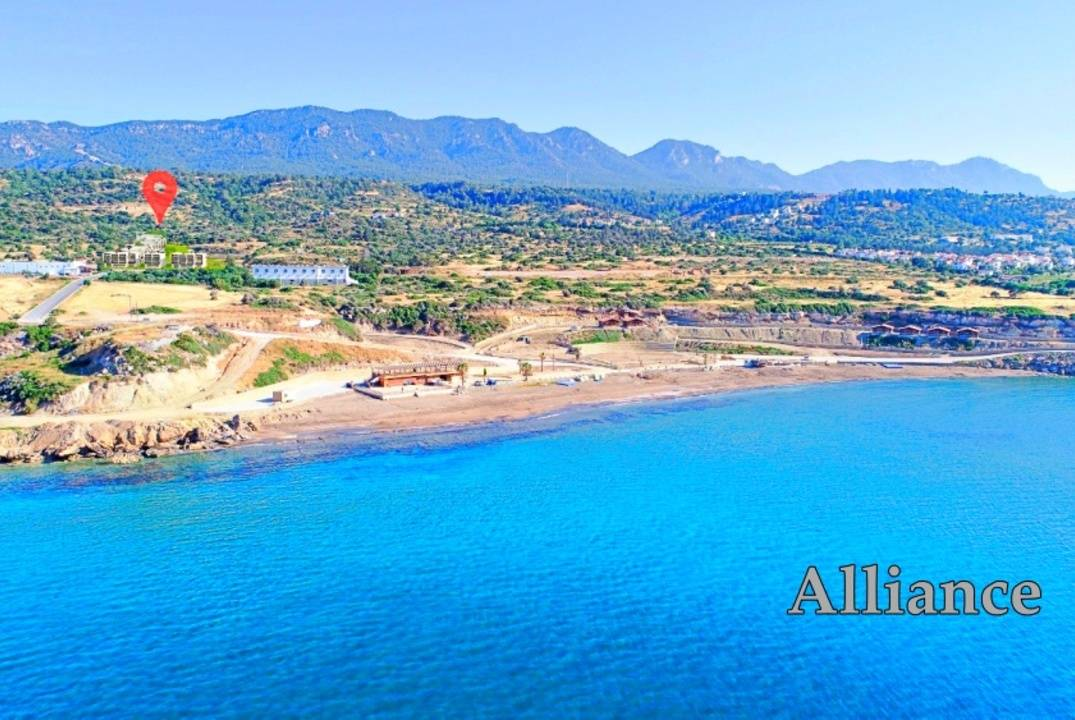 Two -bedroom apartment penthouse-luxury in a prestigious resort complex in Northern Cyprus, 200 meters from the equipped beach