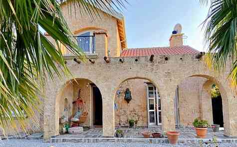 Luxury villa made of natural stone in Catalkoy