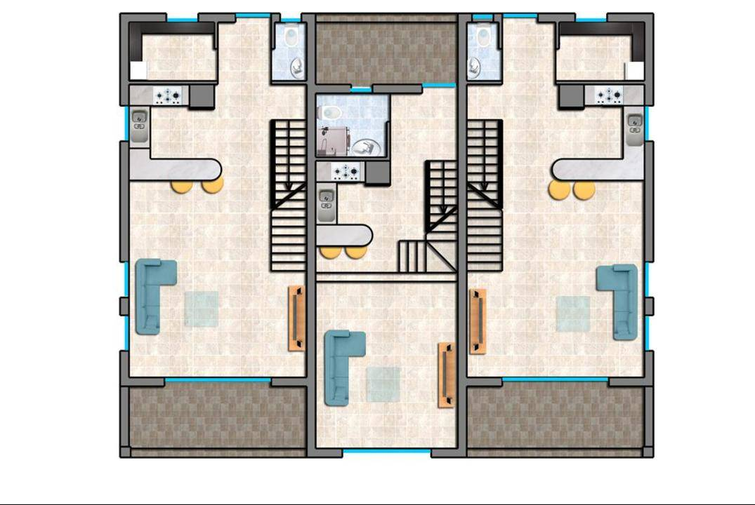 One bedroom townhouse