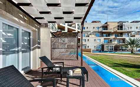 Apartment - studio with sea view in the resort complex in Bafra