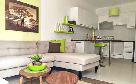 One-bedroom apartments in a gated development
