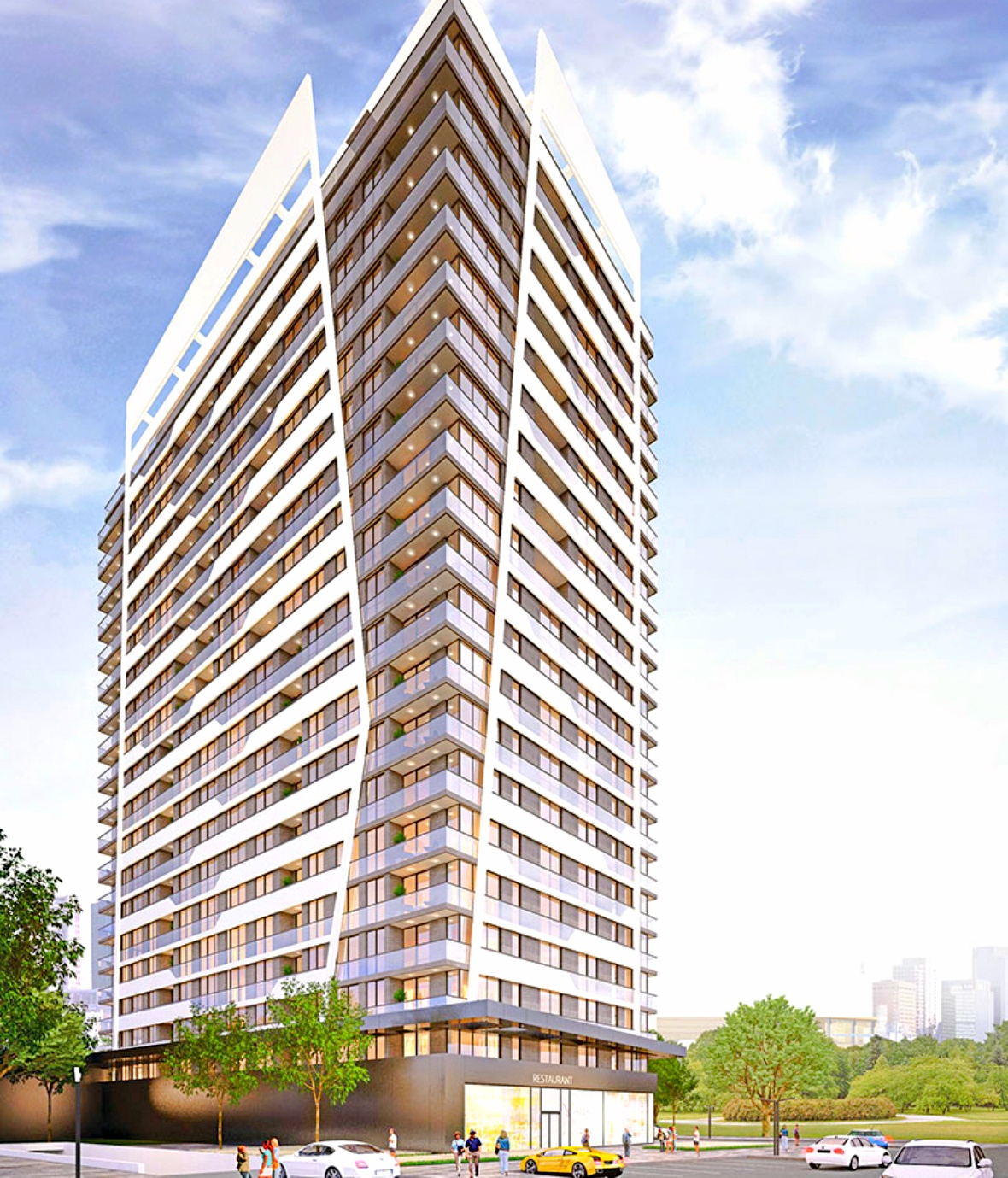 Luxury apartments in the first skyscraper of Famagusta