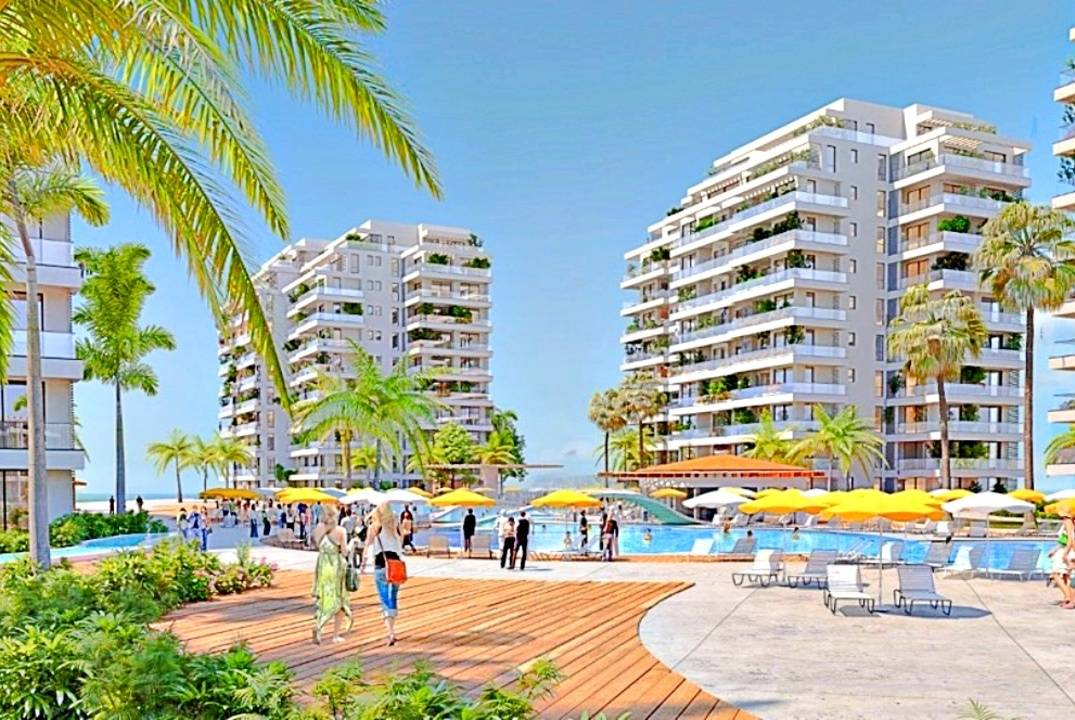 Apartment 1 + 1 (two bedroom) in a prestigious complex by the sea