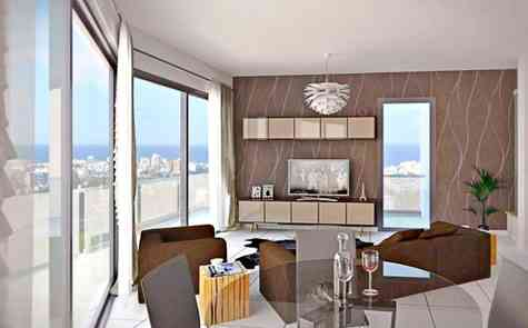 Apartments 2 + 1 in the center of Kyrenia, the city center, the stadium close by!