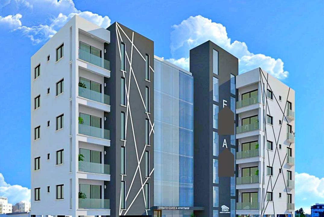 Apartments in a modern building with 1 and 3 bedrooms