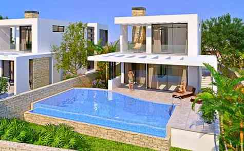 Modern villas of different layouts on the coast in Catalkoy