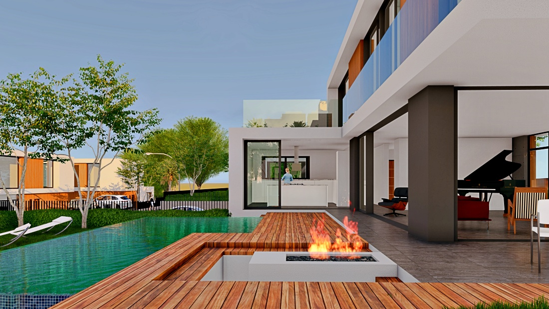 Luxury villas in Alsancak with three and four bedrooms.