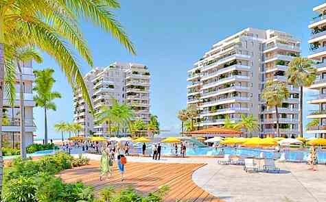 Apartment with two bedrooms in a seaside resort complex with a water park