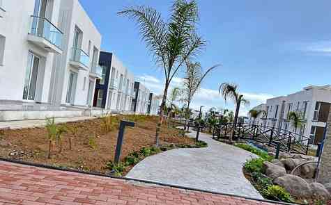 Luxury two bedroom apartments in a resort complex with a beach