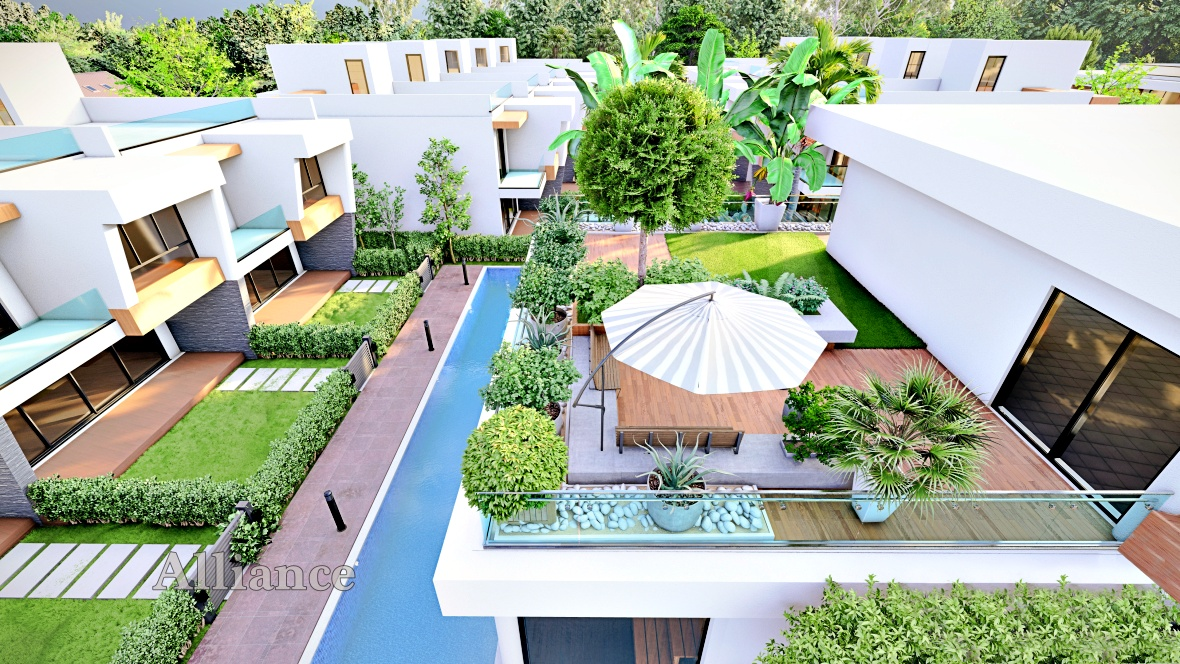 Three and four bedroom villas in a complex near Salamis