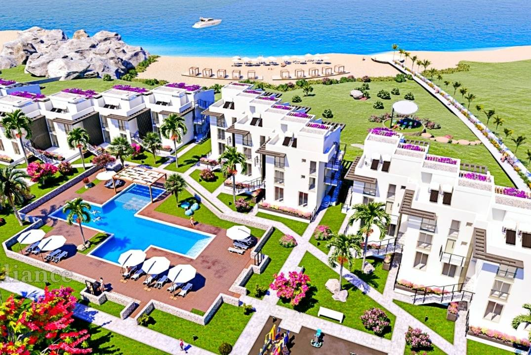 Luxury apartments in a complex on the first line of the sea
