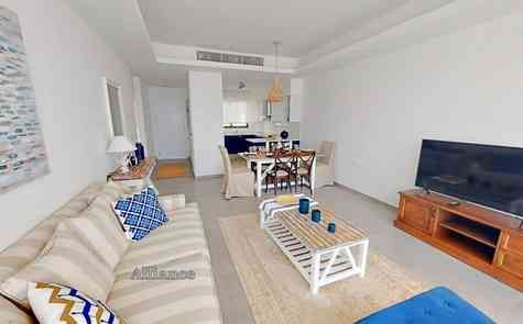 Three bedrooms apartments on the first floor and penthouses in a complex on the first coastline