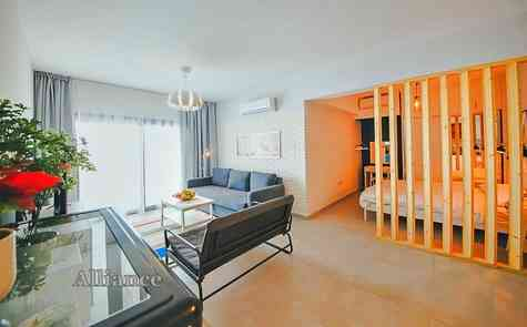 Studios of classical planning and studios with niches in a complex on the sea, sandy beach!