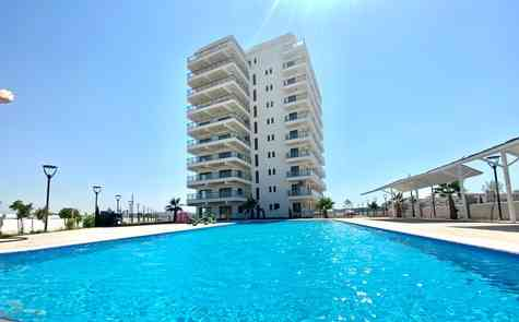 Apartment on the beach with largest aqua park in the area