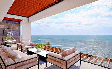Luxurious penthouses, duplexes and triplexes on the first line