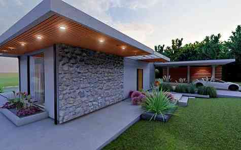 Bungalow on the first line of the sea in Esentepe