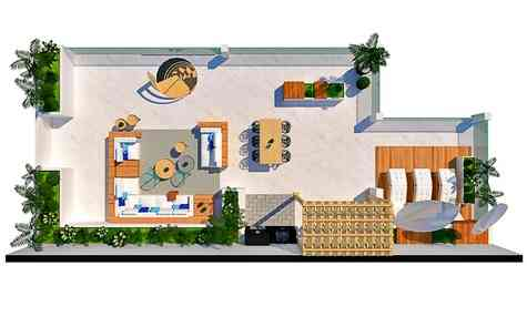 House for two families in a luxury complex on a mountainside in Esentepe , 200 meters from the sea!