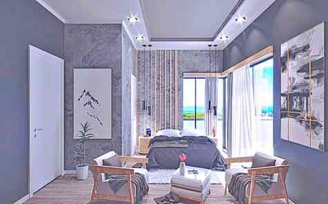 Two-bedroom apartments in a complex with infrastructure near the beach