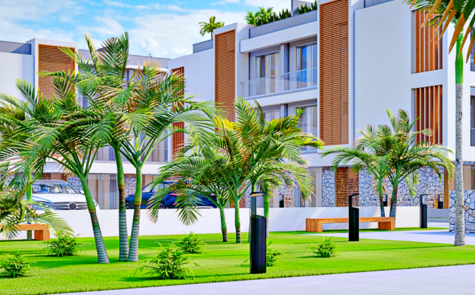 Luxury 3-room apartments in a residential complex in Alsancak