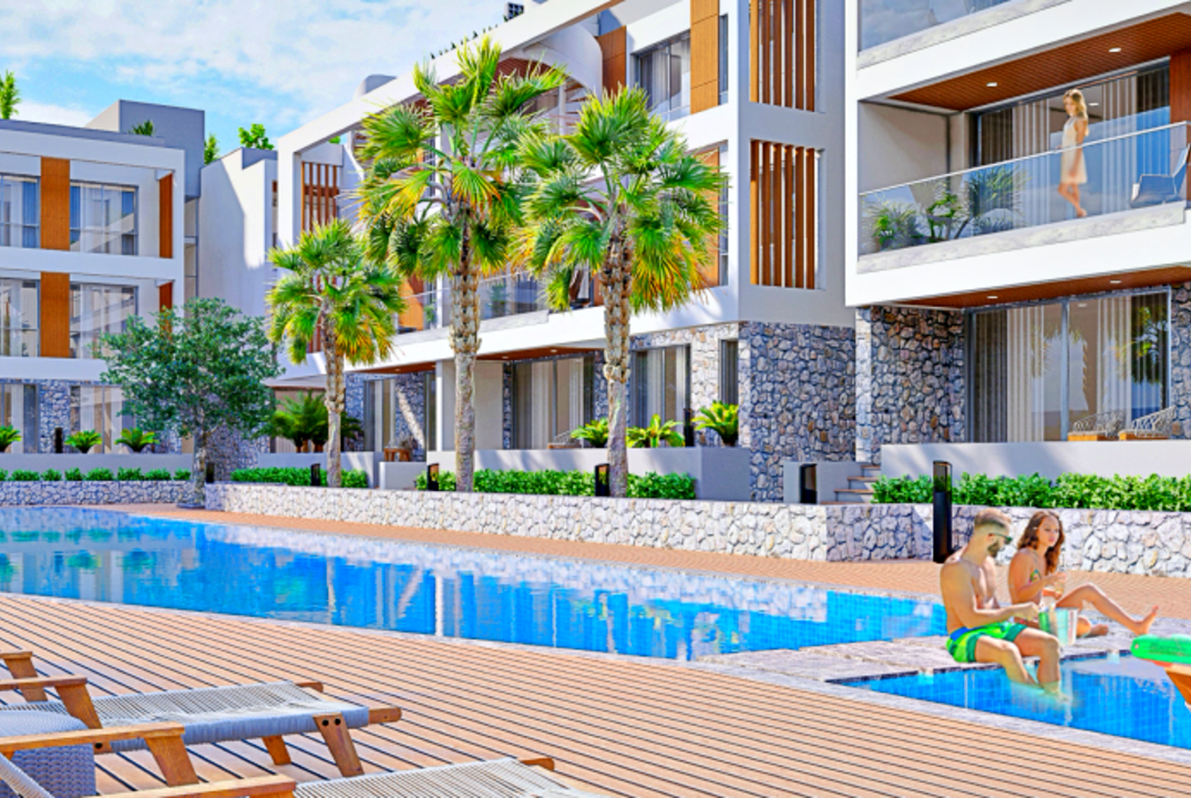 Two bedroom penthouse in a modern residential complex in Alsancak