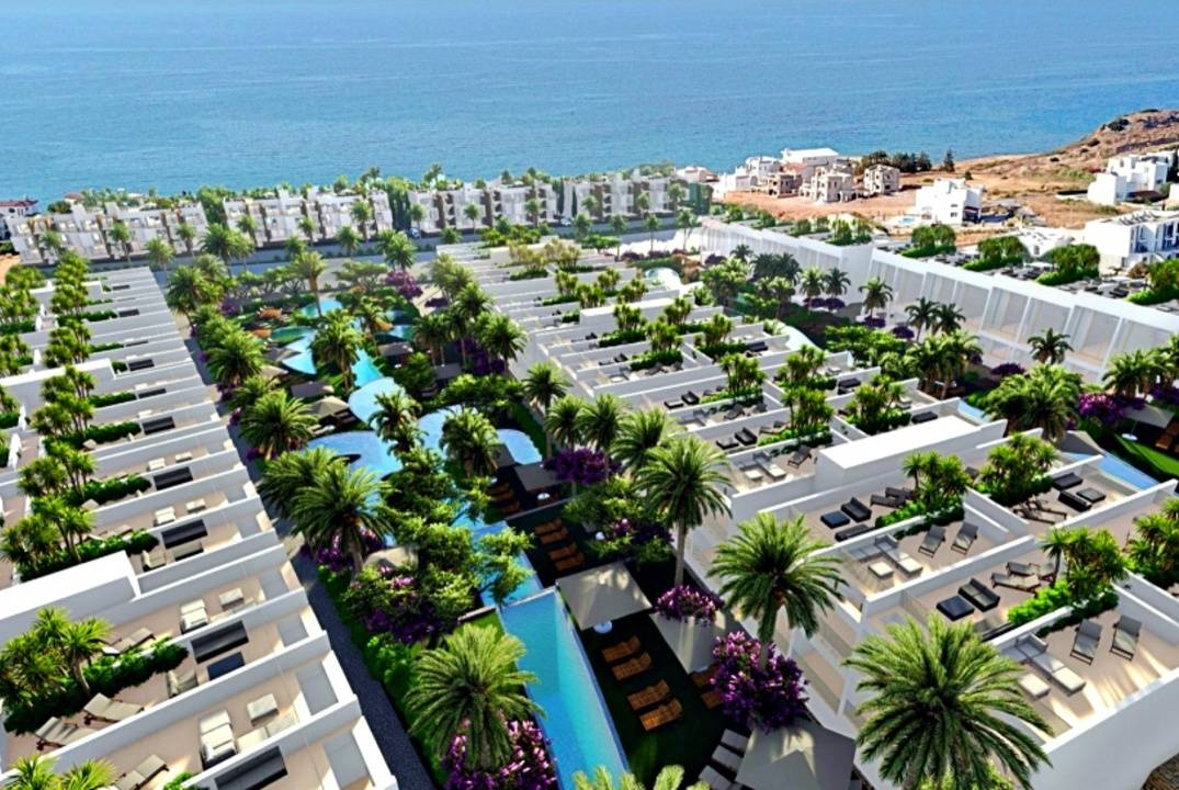 Ground floor studios and penthouses in a luxury complex with 5-star infrastructure