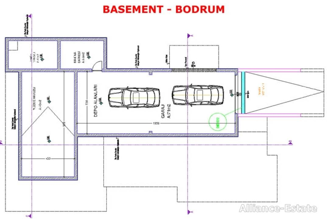 Plan of the  garage and extra room