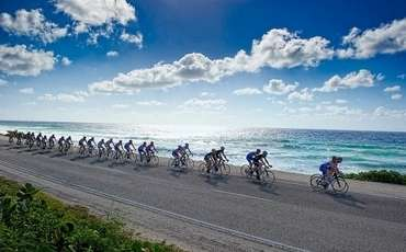 Bicycle race in Northern Cyprus